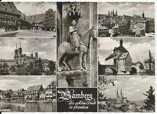Ansichtskarte Bamberg - Dom, Klein Venedig, Michelsberg u. a. - schwarz/weiß