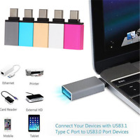 Type C Male to USB 3.0 Female OTG USB 3.1 Data Sync Charge Adapter Converter TR