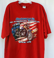 An American Tradition Harley Motorcycle T Shirt  Sz XL