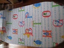 """Muppets Sesame Street flat bed sheet Jp Stevens 64x92"""" alphabet Bert Ernie"""