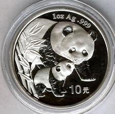 Cina 10 Yuan 2004 ORSO PANDA  @ 1 oncia argento puro @