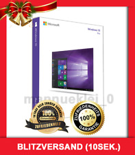 MS Windows 10 Professional (Pro) ✓ 32/64 Bit ✓ Lizenz ✓ Vollversion