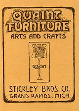 Stickley Brothers Quaint Furniture Catalog Reprint