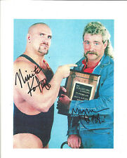 M210 Magnum T.A. & Nikita Koloff duel signed Classic Wrestling 8x10 w/Coa