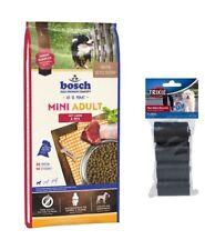 15kg Bosch Adult MINI Lamm & Reis Hundefutter + 80 Stk. Kotbeutel
