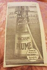 Plume - Vacuum Oil Company - 1933 Advertisement