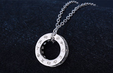 Zodiac Signs Ring 2.0 Cts Cubic Zirconia 925 Sterling Silver Pendant Necklace