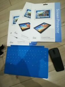 MICROSOFT SURFACE TOUCH KEYBOARD MOUSE MODEL RT 1516 BLUE FRENCH+SCREEN PROTECTO