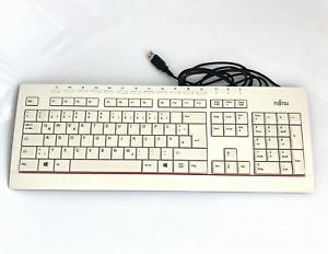 Fujitsu KB521 USB DE Tastatur Qwertz Beige Spritzwassergeschützt Business