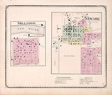 1870 Atlas Kendall County Illinois plat map old Genealogy history Land Dvd P52