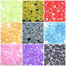 50 LUCITE ACRYLIC FROSTED BELL CUP FLOWER BEADS 10mm Bead Caps Beading Crafts
