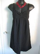 SIZE 14 SMART FLATTERING BLACK PINNAFORE DRESS - BNWT