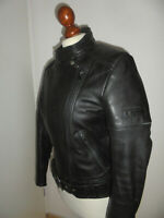 vintage MOTODRESS Motorradjacke Lederjacke motorcycle leather jacket 40 S