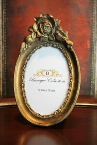Playful Picture Frame Baroque Collection Baroque Rose Gold Oval 23 x 14cm New