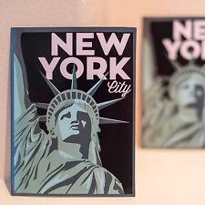 "#4301 NYC New York City USA Retro Vintage Art 3x4"" Luggage Label Decal Sticker"