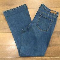 LEVIS DENIZEN BOOT CUT JEANS Great Looking Stretch Blue Denim Womens Size 16 M