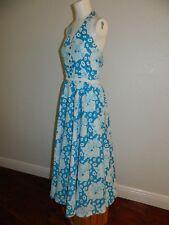 Lilly Pulitzer Women Blue White Butterfly Halter Dress sz 6-8 MINT