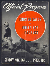 1941 Green Bay Packers' Autographed Program Hutson Canadeo Hinkle 32 Signatures