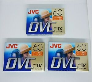 3x JVC Mini DV Digital Video Cassette Tape Recordin SP-60min LP-90min DVM60ME