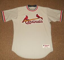 St. Louis Cardinals Team Issued Throwback Authentic Jersey sz 44 Majestic WOW!