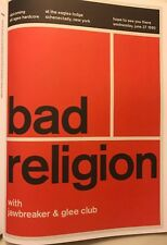 """Bad Religion & Toxic Reasons - 2 Sided Punk Rock Concert Mini Poster 14x10"""" R154"""