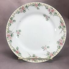 """Nippon Hand Painted Pink Flowers & Gold 7 1/2"""" Dessert Plate Mark #84"""