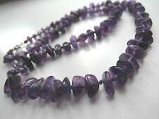 alte Damen Halskette mit violetten Steinen Amethyst Steinkette Kette