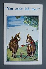 R&L Postcard: Comic Can't Kid Me, Tethered Goats in Field HB 6109 Unposted
