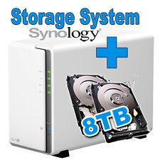 8TB (2x4TB) Synology Disk Station DS216se Gigabit LAN NAS Filme MP3