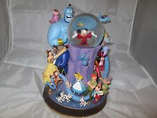 Disney Store Snowglobe Mickey Belle Bambi Genie Peter Pan Dopey Musical Lighted