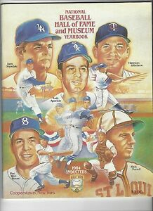 1984 National Baseball Hall of Fame and Museum Yearbook PEE WEE REESE
