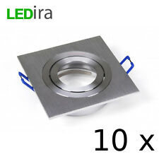 LEDira Kanlux BiColor Einbau Strahler Spot LED GU10 MR16 Alu gebürste eckig 30°