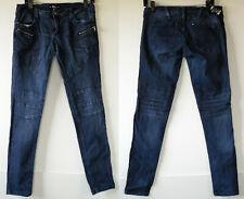 Abbey Dawn Blue Skinny Fit Moto Stretch Denim Jeans 9 JR