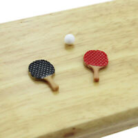 1:12 Miniature ping pong paddle dollhouse diy doll house decor accessories