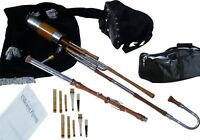 Irish Uilleann Pipes Half Set Bagpipes with C Nat Key Chanter | Student Model