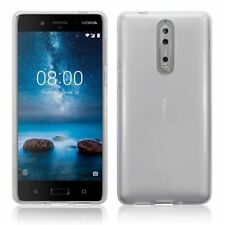 Brand New Silicone Rubber TPU Gel Soft Thin Slim Jelly Case in Clear for Nokia 8