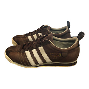 Adidas Mens Chile 62 Trainer 116989 Brown Leather Sneakers Shoes Lace Up Size 7