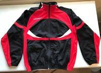 Vintage Diadora Track Jacket Windbreaker Retro 90's Athletic Men L Red Black
