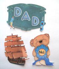 3D U Pick New05 Father Car Bears Crosses Family Dad Card Scrapbook Embellishment