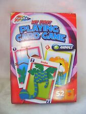 NEW MY FIRST PLAYING MATCHING CARD GAME ANIMALS GIANT BRIGHT CARDS KIDS GRAFIX