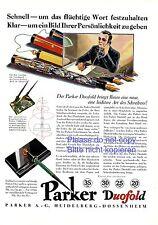 Füller Parker Duofold XL Reklame 1929 Füllfederhalter Heidelberg Dossenheim -