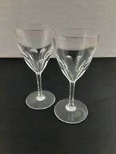 "Vintage Baccarat Crystal Harcourt Port Wine Glasses (set of 2) 6-1/2""- Excellent"