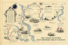1945 WWII Military War Map 19th. XIX Corps action from Siegfried Line to victory