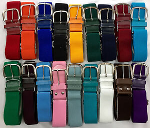Baseball Softball Elastic Adjustable Belt Various Colors Youth Adult