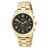 Caravelle 44B114 Gent's Sport Yellow Gold Bracelet Chrono Watch
