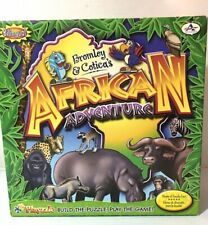 African Adventure Bilingual Animals Board Game Playzzle Puzzle Complete