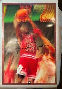 1991-92 NIKE MICHAEL JORDAN CHICAGO BULLS NBA POSTER