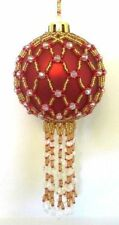 Z245 Bead PATTERN ONLY Beaded Hardwick Christmas Ornament Cover Pattern