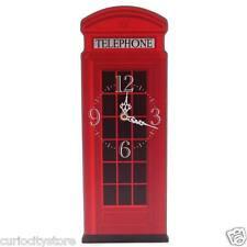 Reloj de pared cabina telefonica moderno original decoración Salón Habitación
