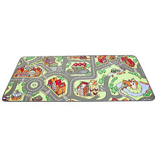 Town Map Kids Play Mat 37x79in Childs Bed Room Carpet Rug Daycare Preschool Toy